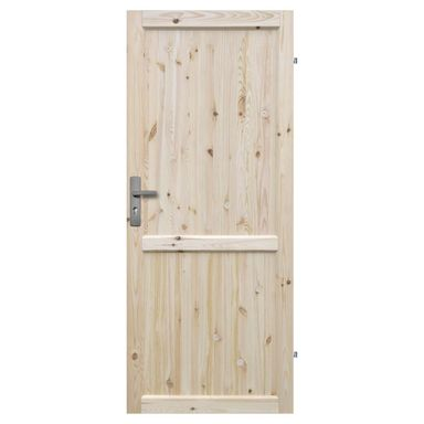 Skrzydło drzwiowe pełne drewniane EKO 80 Prawe RADEX