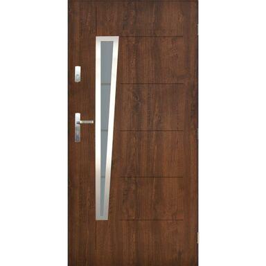 Drzwi zewnętrzne stalowe Marsylia orzech 90 prawe Pantor