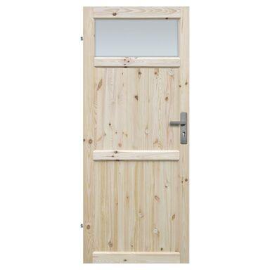 Skrzydło drzwiowe drewniane łazienkowe Eko 70 Lewe Radex