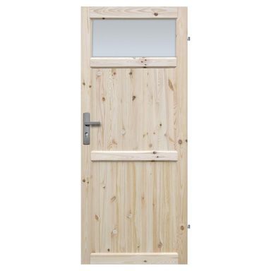 Skrzydło drzwiowe łazienkowe drewniane EKO 70 Prawe RADEX