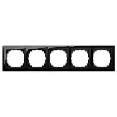 Ramka pięciokrotna SENTIA  czarny  ELEKTRO - PLAST