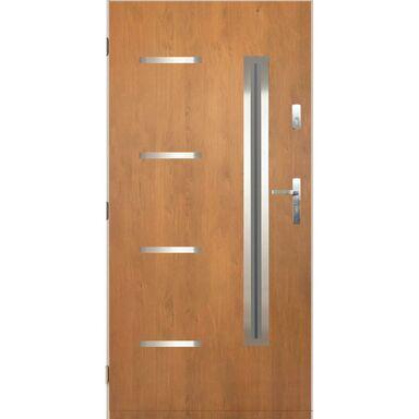 Drzwi zewnętrzne stalowe Nike dąb winchester 90 lewe Pantor