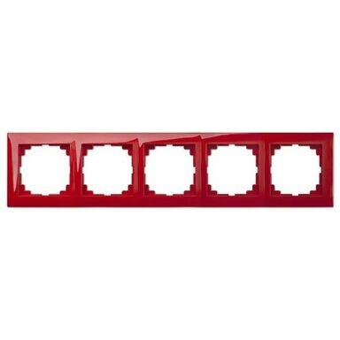 Ramka pięciokrotna SENTIA  Czerwony  ELEKTRO-PLAST