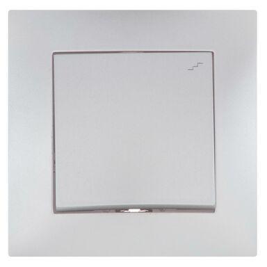 Włącznik pojedynczy schodowy CARLA  Srebrny  ELEKTRO-PLAST