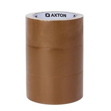 Taśma pakowa 3 szt. 48 mm x 66 m brązowa AXTON