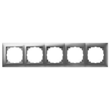 Ramka pięciokrotna SENTIA  Srebrny  ELEKTRO-PLAST