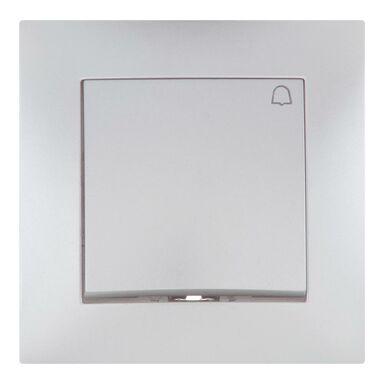 Przycisk dzwonek CARLA  Srebrny  ELEKTRO-PLAST