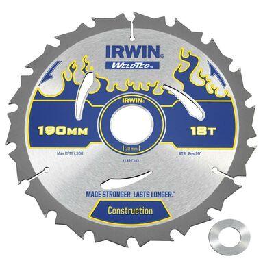 Tarcza do pilarki tarczowej 190 mm/18T/30(20) IRWIN WELDTEC