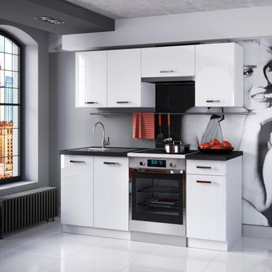 Zestaw mebli kuchennych TERNI 2 PROMO CLASSEN  Meble kuchenne w zestawach  -> Leroy Merlin Kuchnia Fiona Biala