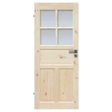 Skrzydło drzwiowe łazienkowe drewniane LONDYN LUX 80 Lewe RADEX