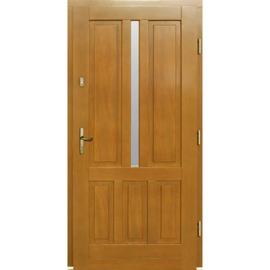 Drzwi zewnętrzne drewniane przeszklone C264 Afromozja 90 prawe Lupol