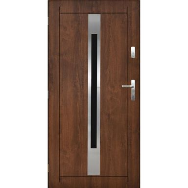 Drzwi wejściowe LILLE 90 Lewe Orzech PANTOR