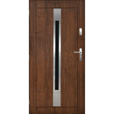Drzwi zewnętrzne stalowe Lille orzech 90 lewe Pantor