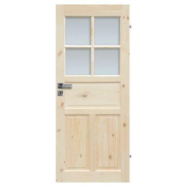 Skrzydło drzwiowe łazienkowe drewniane LONDYN LUX 80 Prawe RADEX
