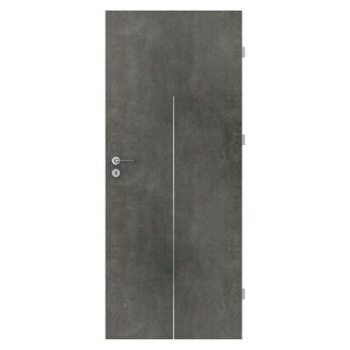 Skrzydło drzwiowe pełne Line Beton ciemny 80 Prawe Porta