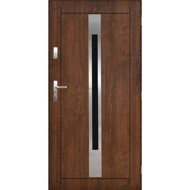 Drzwi zewnętrzne stalowe Lille orzech 90 prawe Pantor