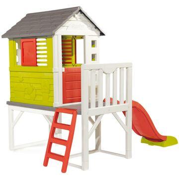 Domek dla dzieci SMOBY 260 x 160 x 197 cm plastikowy ogrodowy ze zjeżdżalnią