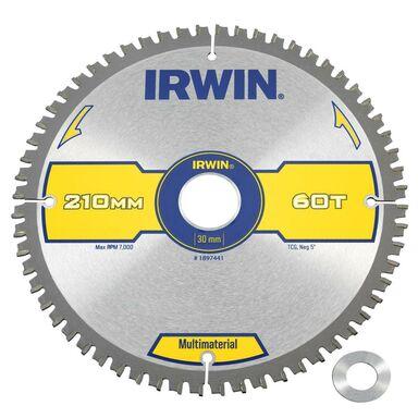 Tarcza do pilarki tarczowej 210MM/60T/30(20) śr. 210 mm  60 z IRWIN MULTIMATERIAL