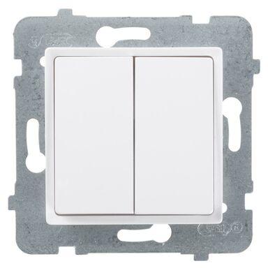 Włącznik podwójny ROSA  biały  POLMARK