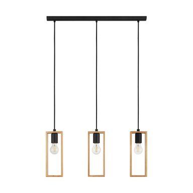 Lampa wisząca Littleton brązowo-czarna 3 x E27 Eglo