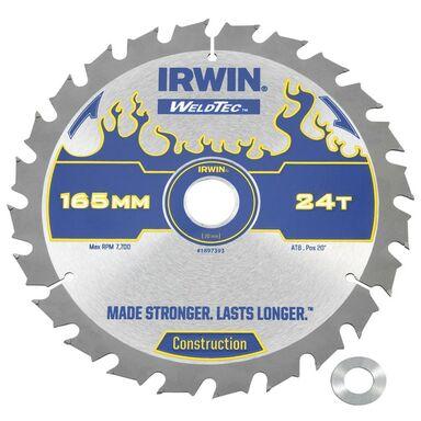 Tarcza do pilarki tarczowej 165MM/24T C/20(16)  165 mm zęby: 24 szt. IRWIN WELDTEC