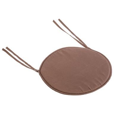 Poduszka na krzesło TITI brązowa okrągła śr. 38 cm INSPIRE