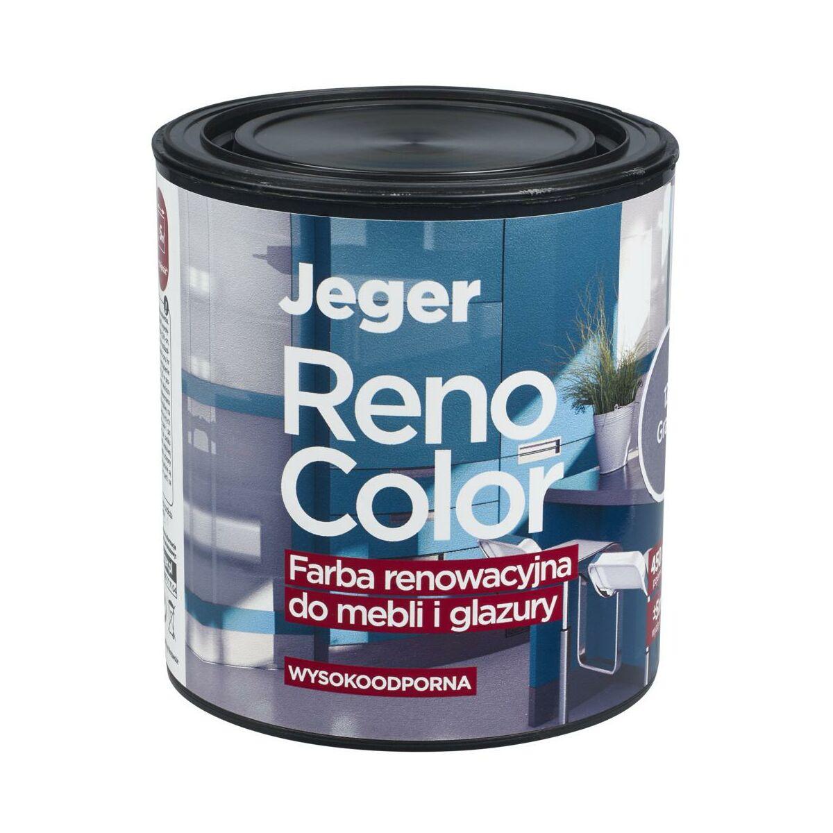 Farba Renowacyjna Reno Color Do Mebli I Glazury 0 45 L Grafit Wysokoodporna Jeger Farby Do Drewna I Mebli W Atrakcyjnej Cenie W Sklepach Leroy Merlin