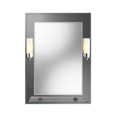 Lustro łazienkowe z oświetleniem kinkietowym REX 60 x 80 DUBIEL VITRUM
