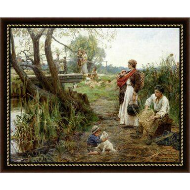 Obraz NAD RZEKĄ 56 x 46 cm NIELSEN