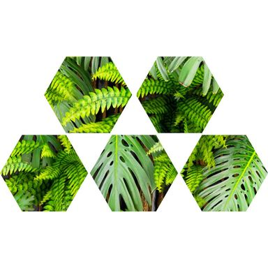 Dekor 5 elementowy Hex Green Wall 20 X 23 Alfa-Cer