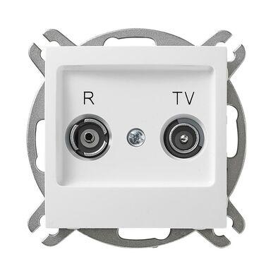 Gniazdo RTV końcowe IMPRESJA  Biały  OSPEL