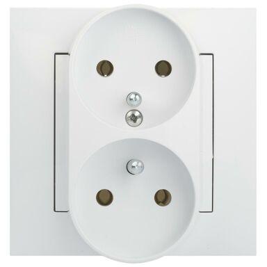 Gniazdo podwójne CARLA  biały  ELEKTRO - PLAST