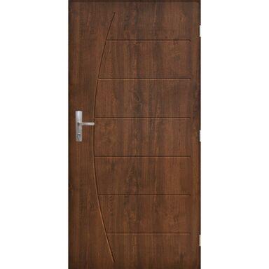 Drzwi zewnętrzne stalowe antywłamaniowe RC3 Metz 90 prawe orzech Pantor
