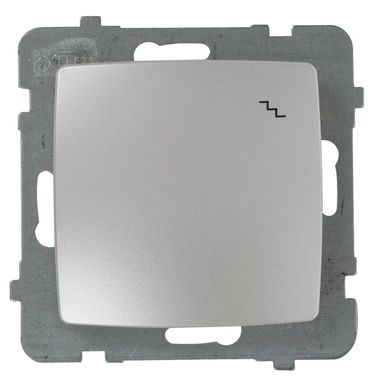 Włącznik schodowy KARO  Srebrny  OSPEL