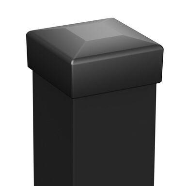 Słupek ogrodzeniowy 7 x 7 x 200 cm czarny POLARGOS