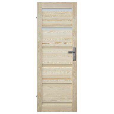 Skrzydło drzwiowe drewniane łazienkowe Genewa 60 Lewe Radex