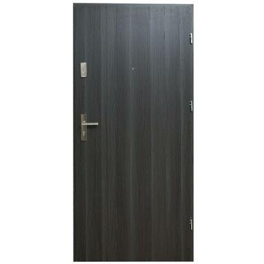 Drzwi zewnętrzne drewno mdf Hektor 32dB dąb grafit 90 prawe Domidor