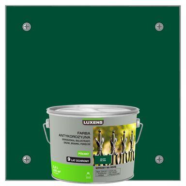 Farba antykorozyjna 2.5 l Zielony Półmat LUXENS