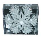 Śnieżynki brokatowe 10 cm 6 szt. srebrne