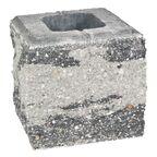 Pustak ścienno-cokołowy 20 x 19.5 x 19 cm betonowy trzystronnie łupany SKAŁA LUBUSKA ZIEL-BRUK