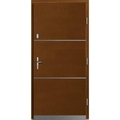 Drzwi zewnętrzne drewniane Wega sosna afromozja 90 prawe Lupol