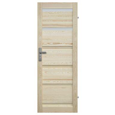 Skrzydło drzwiowe drewniane łazienkowe Genewa 80 Prawe Radex