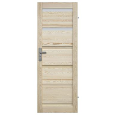 Skrzydło drzwiowe łazienkowe drewniane GENEWA 80 Prawe RADEX