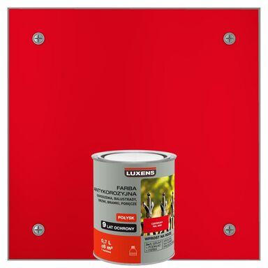 Farba antykorozyjna 0.7 l Czerwony Połysk LUXENS