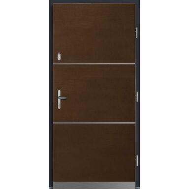 Drzwi zewnętrzne drewniane Wega Merbau 90 prawe Lupol