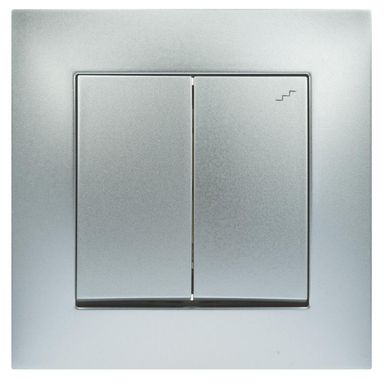 Włącznik schodowy PODWÓJNY CARLA  Biały  ELEKTRO-PLAST