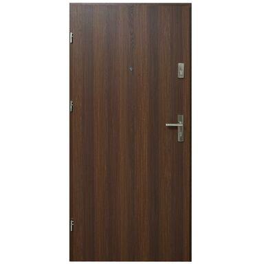 Drzwi zewnętrzne MDF Hektor 32 dB Orzech Premium 80 Lewe otwierane do wewnątrz Domidor