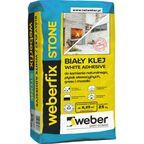 Biały klej do kamienia naturalnego, płytek elewacyjnych, gresu i mozaiki WEBERFIX STONE 25 kg WEBER