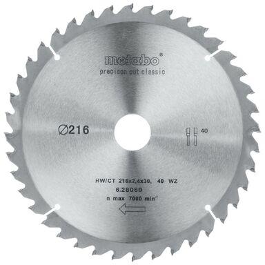 Tarcza do pilarki tarczowej HW/CT 216 mm 40T METABO