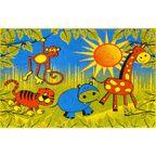 Dywan dziecięcy SAFARI niebieski 200 x 280 cm